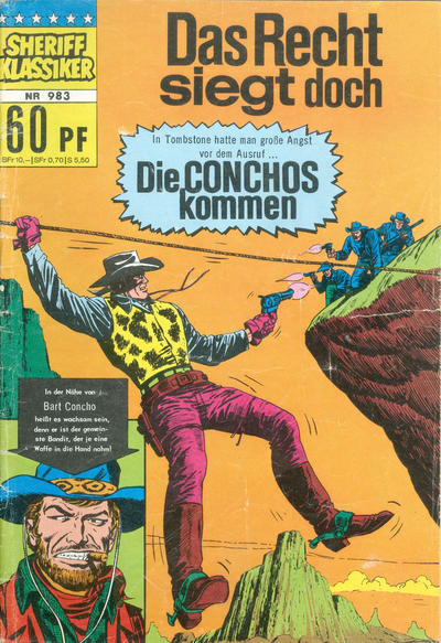Cover for Sheriff Klassiker (BSV - Williams, 1964 series) #983