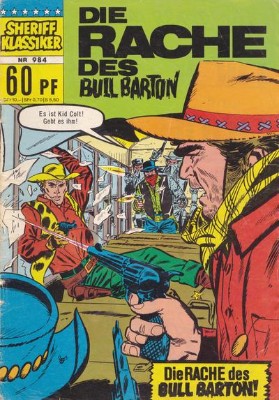 Cover for Sheriff Klassiker (BSV - Williams, 1964 series) #984