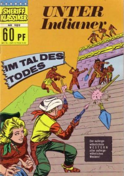 Cover for Sheriff Klassiker (BSV - Williams, 1964 series) #989