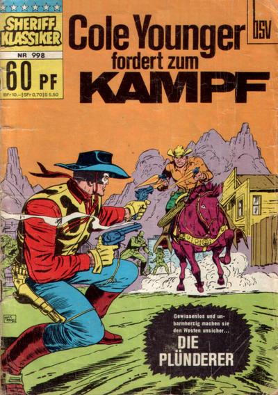 Cover for Sheriff Klassiker (BSV - Williams, 1964 series) #998