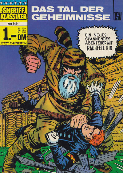 Cover for Sheriff Klassiker (BSV - Williams, 1964 series) #149