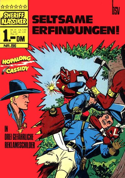 Cover for Sheriff Klassiker (BSV - Williams, 1964 series) #196