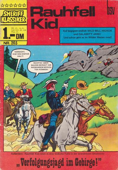 Cover for Sheriff Klassiker (BSV - Williams, 1964 series) #203