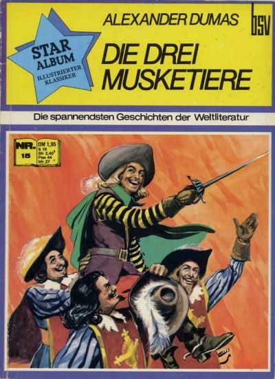 Cover for Star Album [Classics Illustrated] (BSV - Williams, 1970 series) #15 - Die drei Musketiere