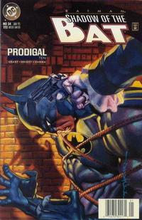Cover Thumbnail for Batman: Shadow of the Bat (DC, 1992 series) #34 [Newsstand]