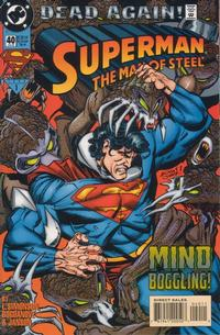 Cover Thumbnail for Superman: The Man of Steel (DC, 1991 series) #40