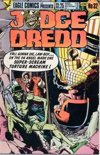 Cover for Judge Dredd (Eagle Comics, 1983 series) #32