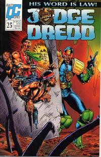 Cover Thumbnail for Judge Dredd (Fleetway/Quality, 1987 series) #25