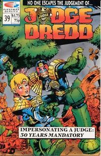 Cover Thumbnail for Judge Dredd (Fleetway/Quality, 1987 series) #39