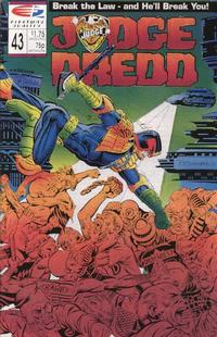 Cover Thumbnail for Judge Dredd (Fleetway/Quality, 1987 series) #43