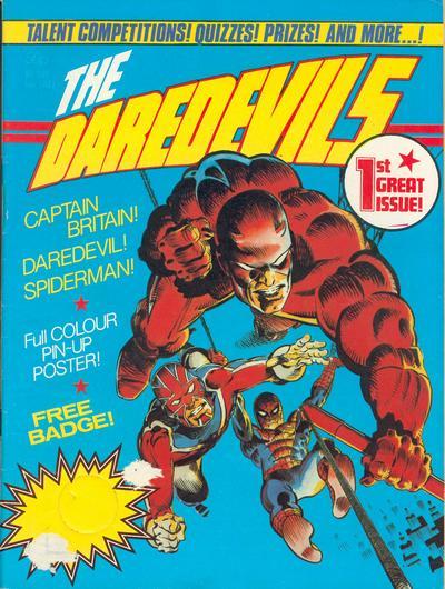Cover for The Daredevils (Marvel UK, 1982 series) #1