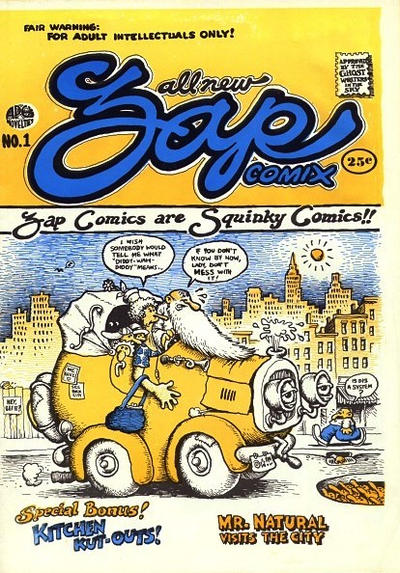 Cover for Zap Comix (Apex Novelties, 1967 series) #1 [UK price variant]