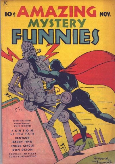 Cover for Amazing Mystery Funnies (Centaur, 1938 series) #v2#11
