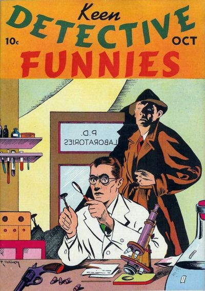 Cover for Keen Detective Funnies (Centaur, 1938 series) #v1#10