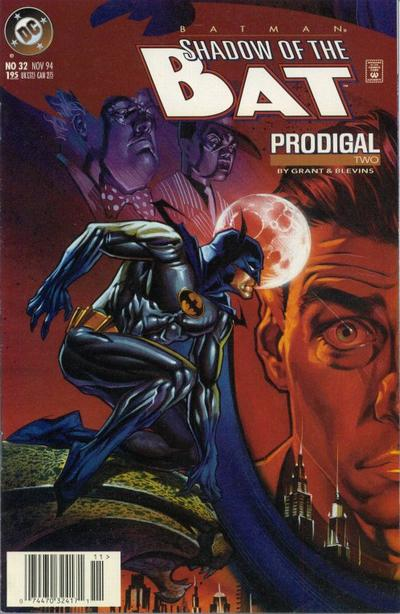 Cover for Batman: Shadow of the Bat (DC, 1992 series) #32 [Direct]