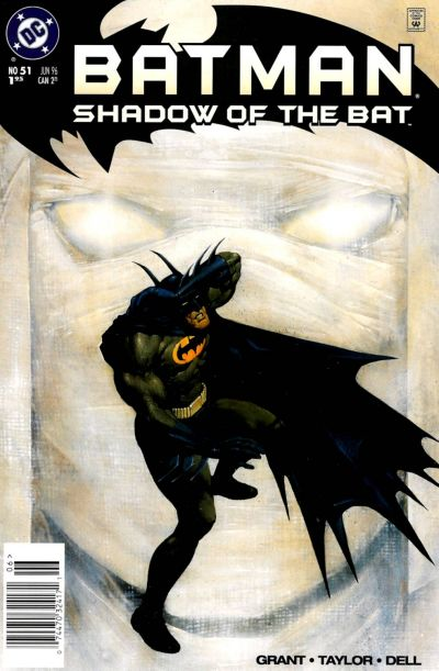 Cover for Batman: Shadow of the Bat (DC, 1992 series) #51 [Newsstand]
