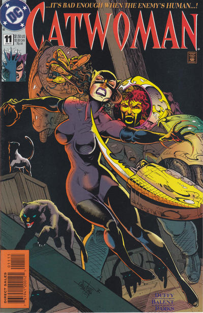 Cover for Catwoman (DC, 1993 series) #11 [Direct Edition]