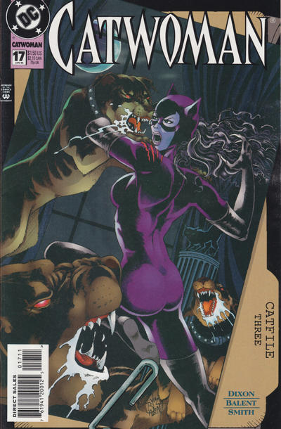 Cover for Catwoman (DC, 1993 series) #17 [Direct Edition]