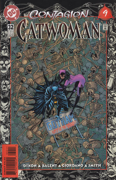 Cover for Catwoman (DC, 1993 series) #32 [Direct Edition]