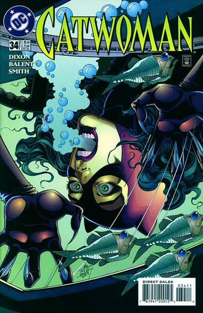 Cover for Catwoman (DC, 1993 series) #34 [Direct Edition]