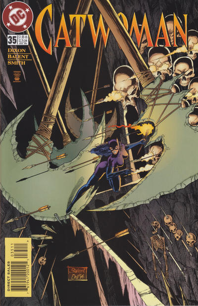 Cover for Catwoman (DC, 1993 series) #35 [Direct Edition]
