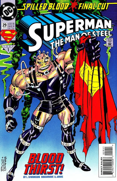 Cover for Superman: The Man of Steel (DC, 1991 series) #29