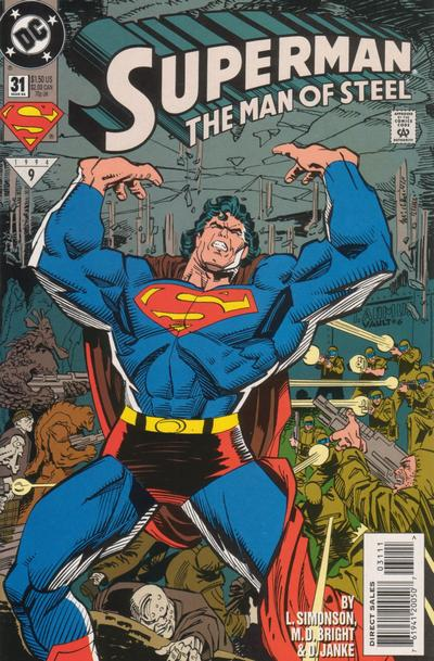 Cover for Superman: The Man of Steel (DC, 1991 series) #31 [Direct Edition]