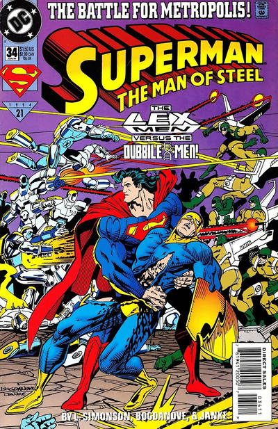 Cover for Superman: The Man of Steel (DC, 1991 series) #34