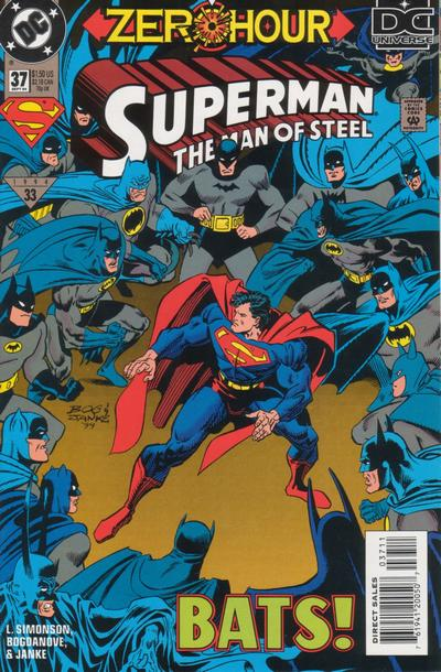 Cover for Superman: The Man of Steel (DC, 1991 series) #37
