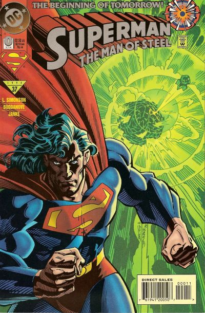 Cover for Superman: The Man of Steel (DC, 1991 series) #0