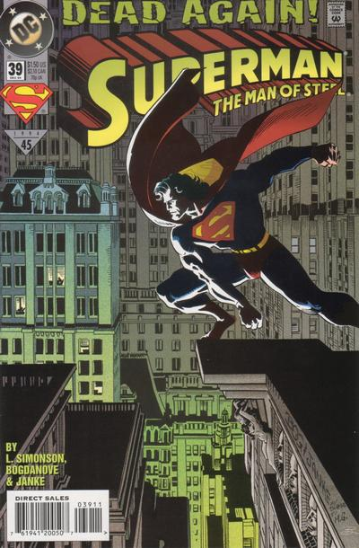 Cover for Superman: The Man of Steel (DC, 1991 series) #39