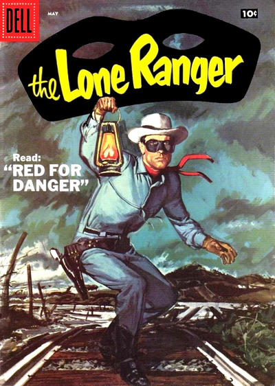Cover for The Lone Ranger (Dell, 1948 series) #107 [10 cent cover price]