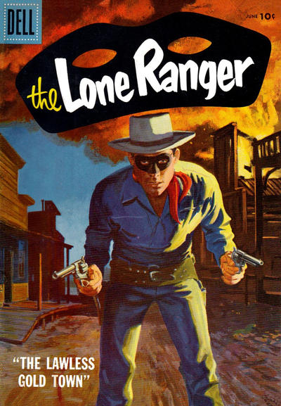 Cover for The Lone Ranger (Dell, 1948 series) #108 [10 cent cover price]