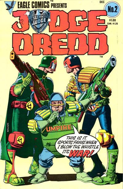 Cover for Judge Dredd (Eagle Comics, 1983 series) #2
