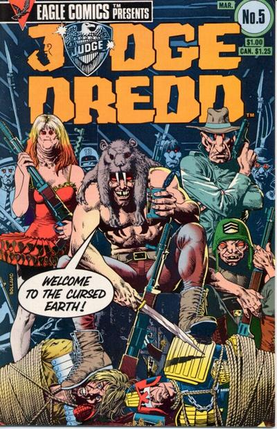 Cover for Judge Dredd (Eagle Comics, 1983 series) #5