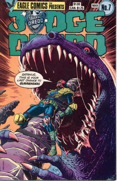Cover for Judge Dredd (Eagle Comics, 1983 series) #7