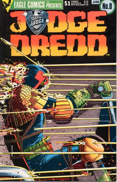 Cover for Judge Dredd (Eagle Comics, 1983 series) #8