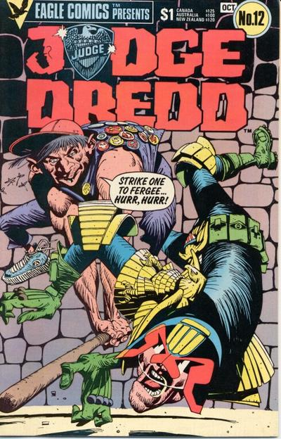 Cover for Judge Dredd (Eagle Comics, 1983 series) #12