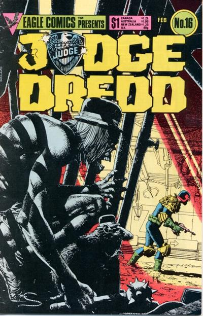 Cover for Judge Dredd (Eagle Comics, 1983 series) #16