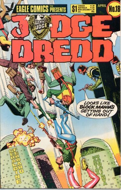 Cover for Judge Dredd (Eagle Comics, 1983 series) #18