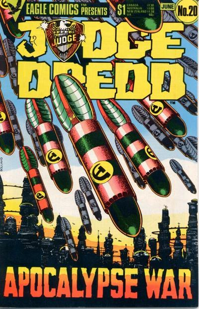 Cover for Judge Dredd (Eagle Comics, 1983 series) #20