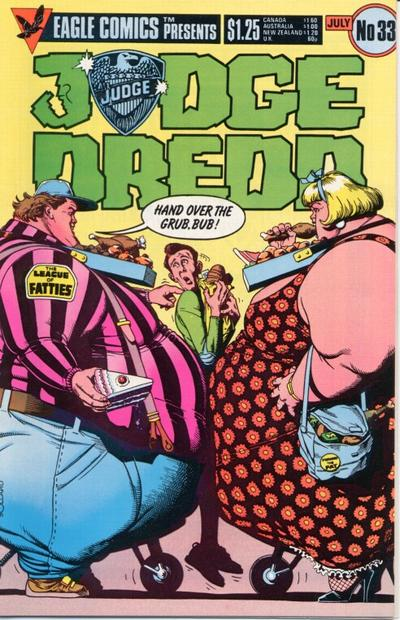 Cover for Judge Dredd (Eagle Comics, 1983 series) #33
