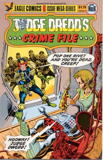 Cover for Judge Dredd's Crime File (Eagle Comics, 1985 series) #6