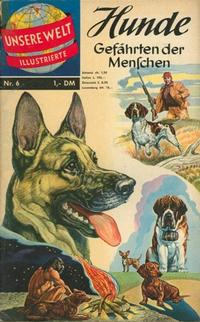 Cover Thumbnail for Unsere Welt Illustrierte (BSV - Williams, 1962 series) #6