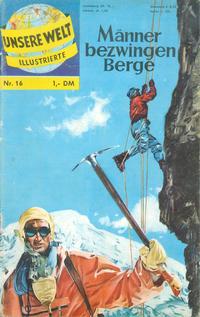 Cover Thumbnail for Unsere Welt Illustrierte (BSV - Williams, 1962 series) #16