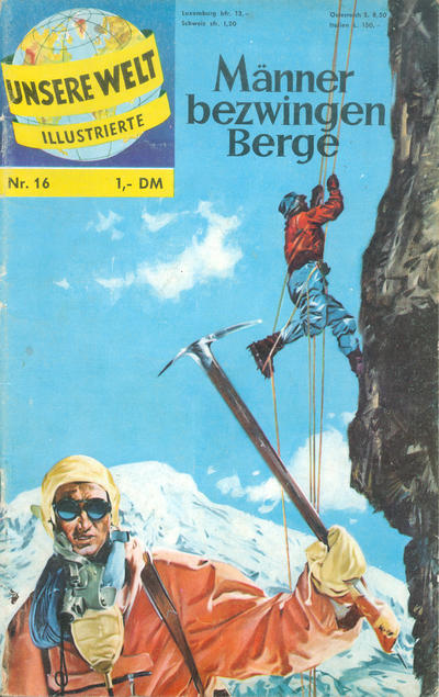 Cover for Unsere Welt Illustrierte (BSV - Williams, 1962 series) #16