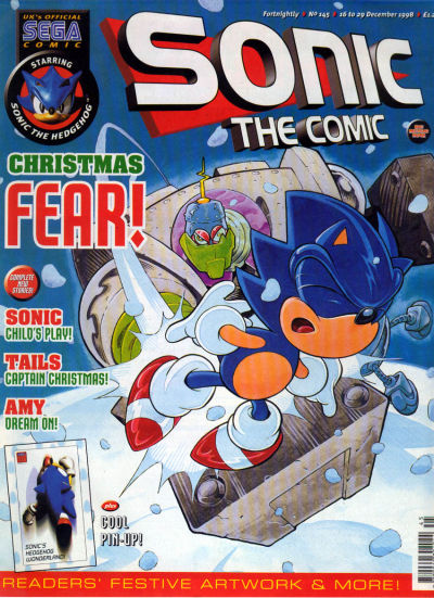 Cover for Sonic the Comic (Fleetway Publications, 1993 series) #145
