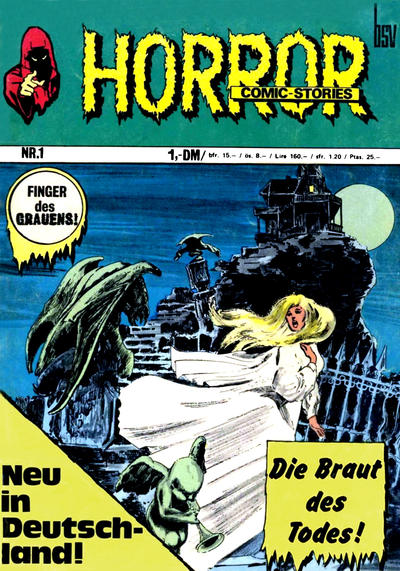 Cover for Horror (BSV - Williams, 1972 series) #1