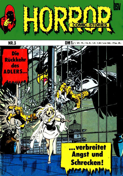 Cover for Horror (BSV - Williams, 1972 series) #3