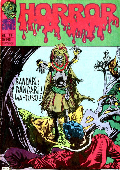 Cover for Horror (BSV - Williams, 1972 series) #29